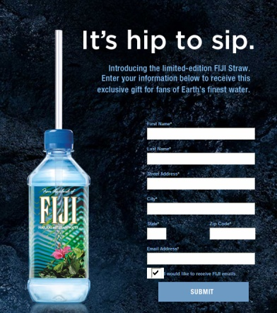 free on facebook fiji limited edition straw
