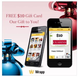 free wrapp clairns gift card