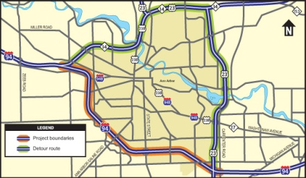i 94 road closure july 2013