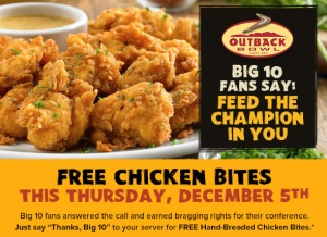 outback steakhouse free chicken bites